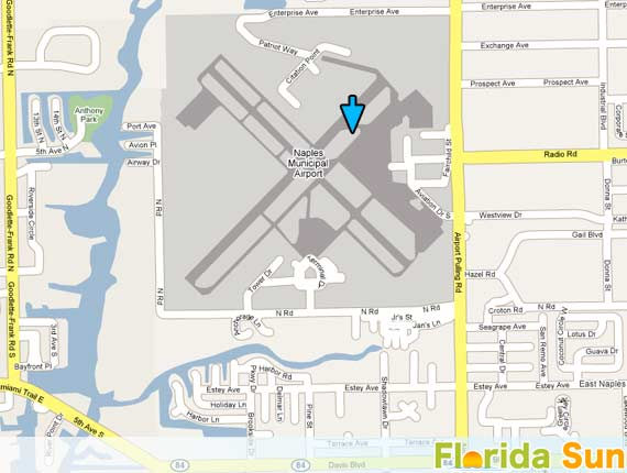Map Of Airports In Florida.Naples Municipal Airport Rental Car Map
