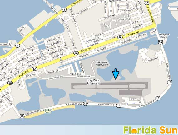 Key West Car Rental Map