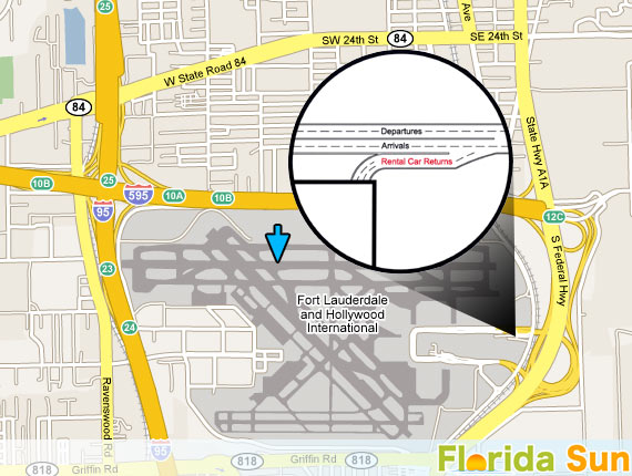 Fort Lauderdale FLL | Rental Car Map on foreclosure map, charter map, rehab map, golf map, exchange map, performance map, information map, marine map, government map, contact us map, wedding map,