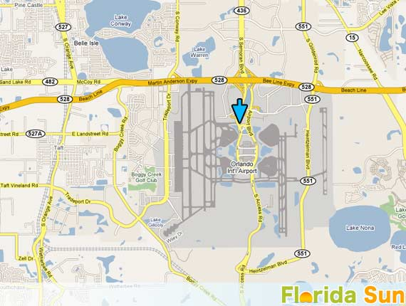 Orlando International Airport Rental Car Map