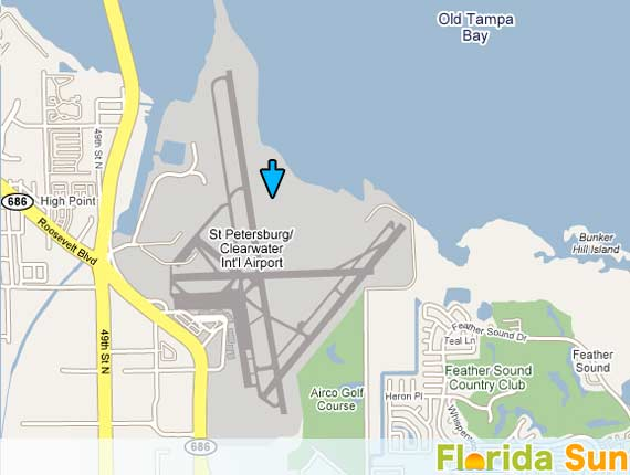 Florida Airport Map.St Petersburg Clearwater Airport Airport Rental Car Map