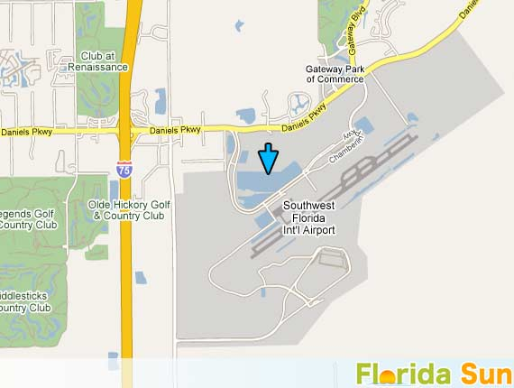 Ft Myers Map Of Florida.Fort Myers Airport Rsw Rental Car Map
