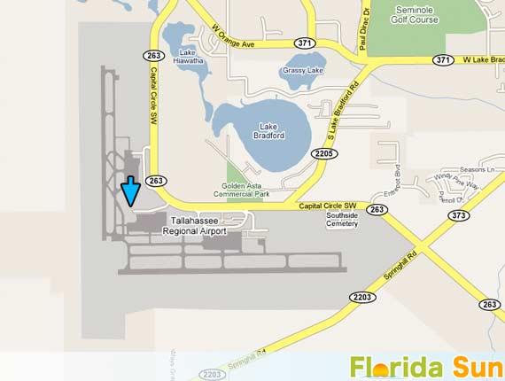 Tallahassee Regional Airport Rental Car Map