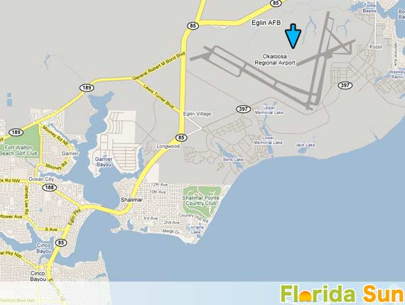 Map Of Airports In Florida.Fort Walton Beach Airport Rental Car Map